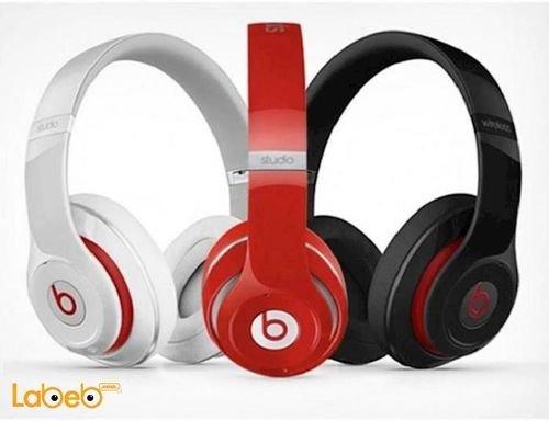 سماعة رأس بلوتوث لاسلكية Beats توصيل حتى 10 متر لون أحمر STN-13