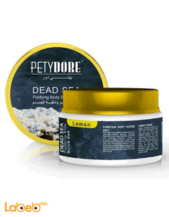 Petydore Purifying Body Scrub Salt - 300g - Lemon - 6254000079137