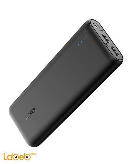 بطارية محمولة انكر 20100mAh منفذين USB أسود A1271H11