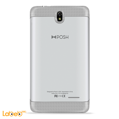 POSH Equal Plus mobile back view 8GB 7 inch LCD Silver color X700 model