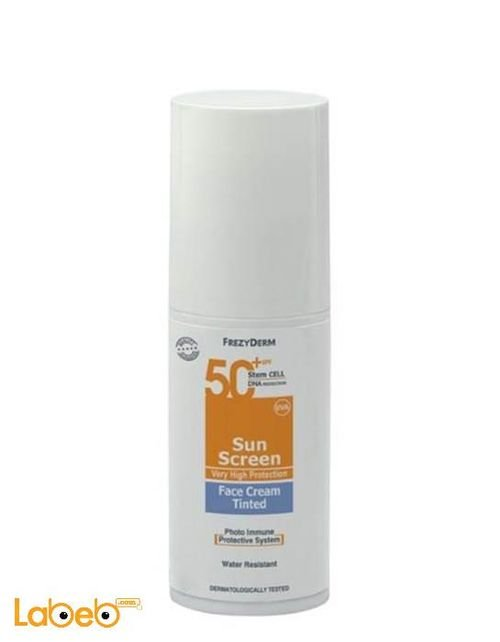 Frezydrem Sun screen face cream Tinted SPF 50+ natural colour