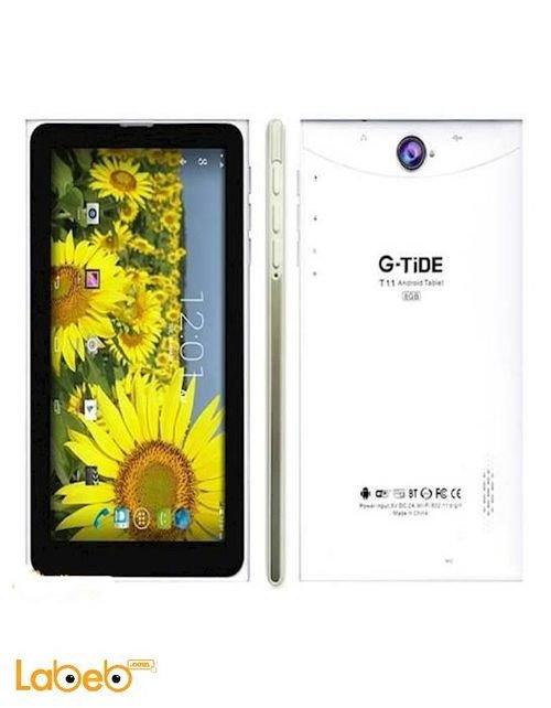 تابلت G-TIDE شاشة 7 انش 8 جيجابايت 3G لون أبيض موديل T11