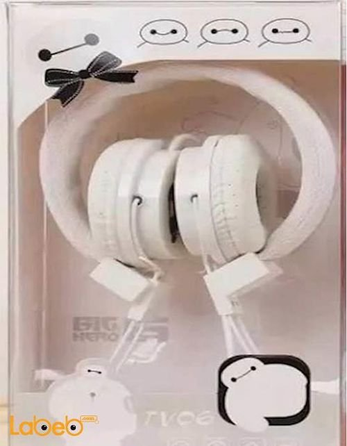 Big hero 6 Headphones 1.2m Length White color TV06 model