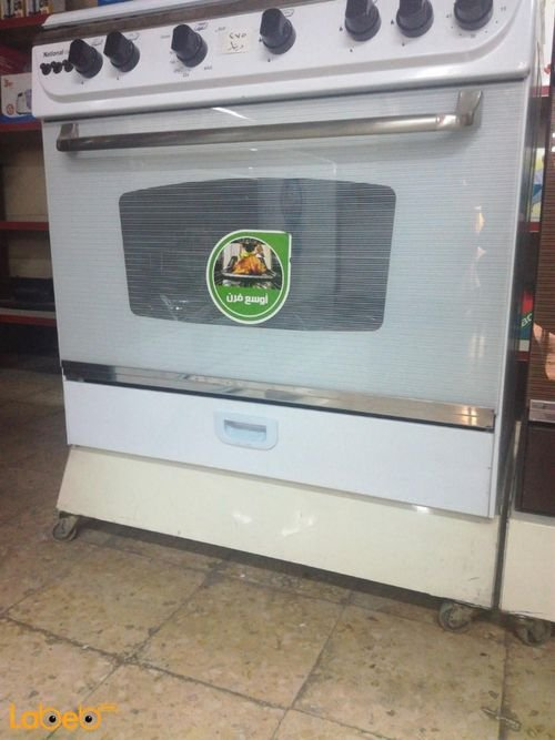 National Deluxe oven 5 burners White color C6080