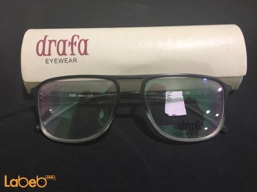 نظارات طبية Drafa - اطار لون أسود - عدسة شفافة
