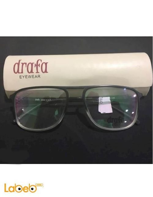Drafa eyeglasses Black color frame Clear lenses