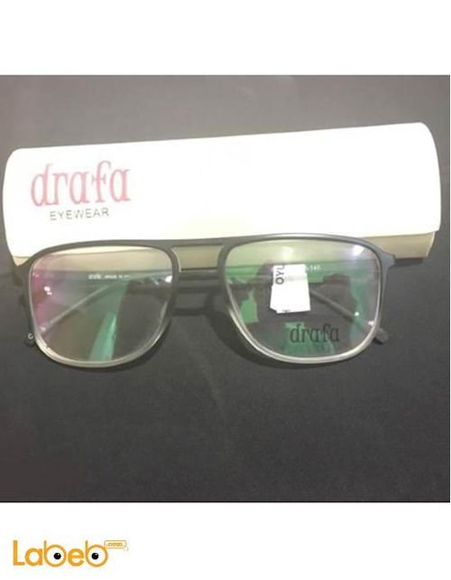 Drafa eyeglasses Black color frame Clear lens