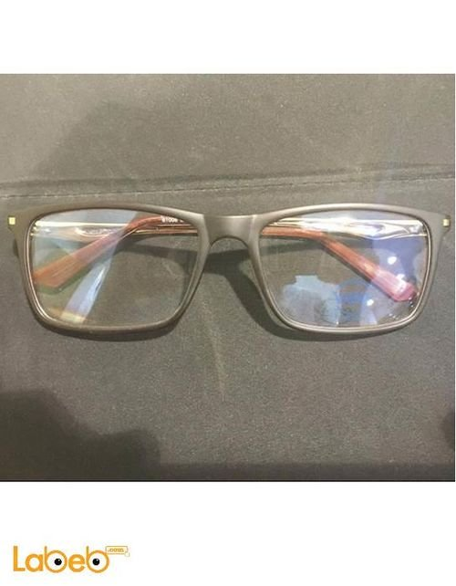 Vegan eyeglasses Grey frame transparent lenses