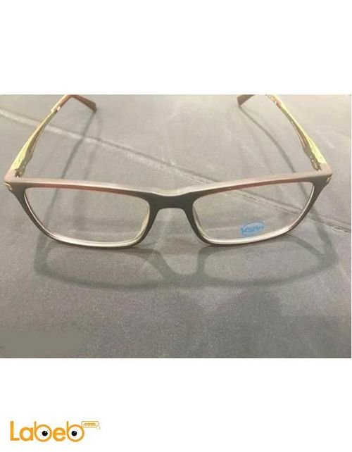 Vegan eyeglasses Grey color frame transparent lenses