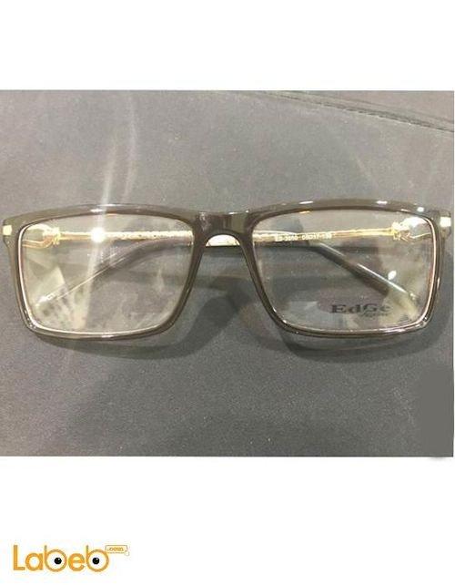 نظارات طبية Edge اطار أسود وذهبي عدسة شفافة