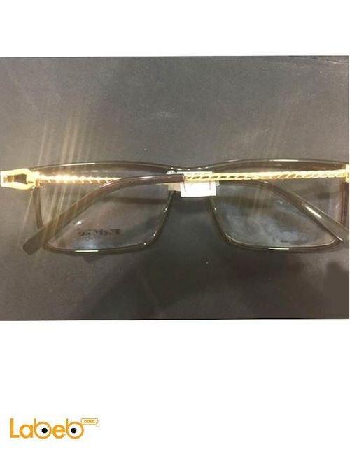 نظارات طبية ماركة Edge اطار أسود وذهبي عدسة شفافة