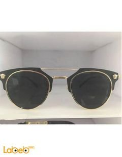 Copy Versace sunglasses - Gold frame - Black lenses