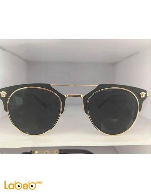 نظارة شمسية فيرزاتشي تقليد 1 اطار ذهبي عدسة سوداء