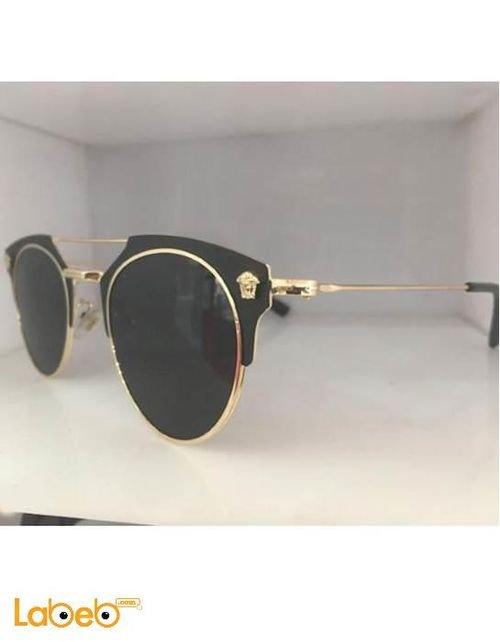 نظارة شمسية ماركة فيرزاتشي تقليد 1 اطار ذهبي عدسة سوداء