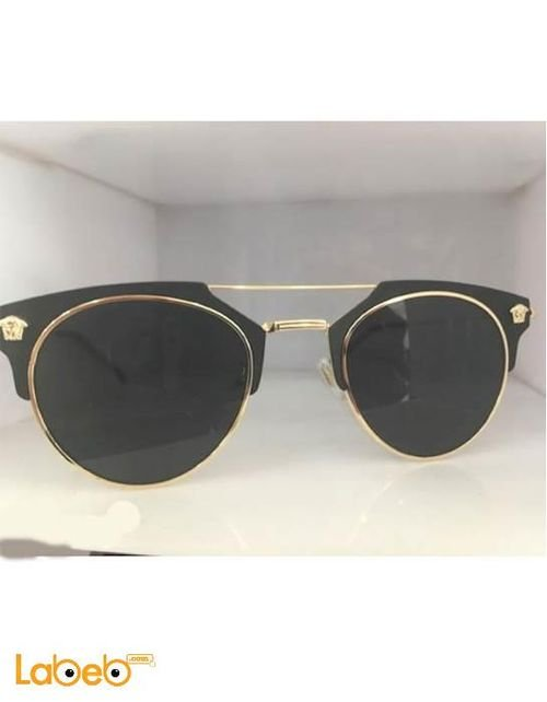 نظارة شمسية فيرزاتشي تقليد صنف أول اطار ذهبي عدسة سوداء