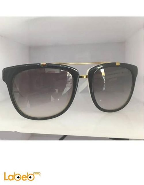 نظارة شمسية Prada اطار اسود وابيض عدسات سوداء