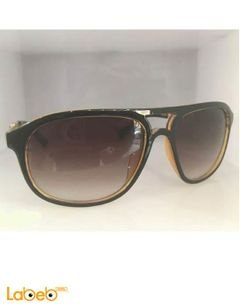 Copy Porschedesign sunglasses - Gold & Black frame - Brown lenses