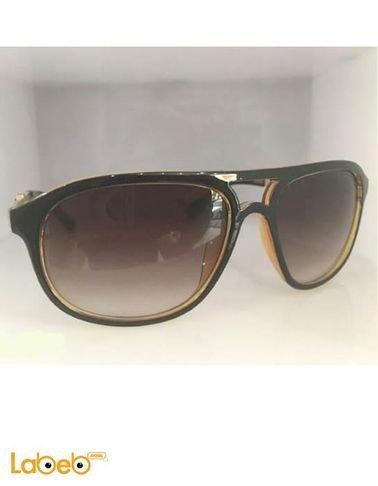 نظارة شمسية بورش تقليد 1 اطار اسود وذهبي عدسة بنية