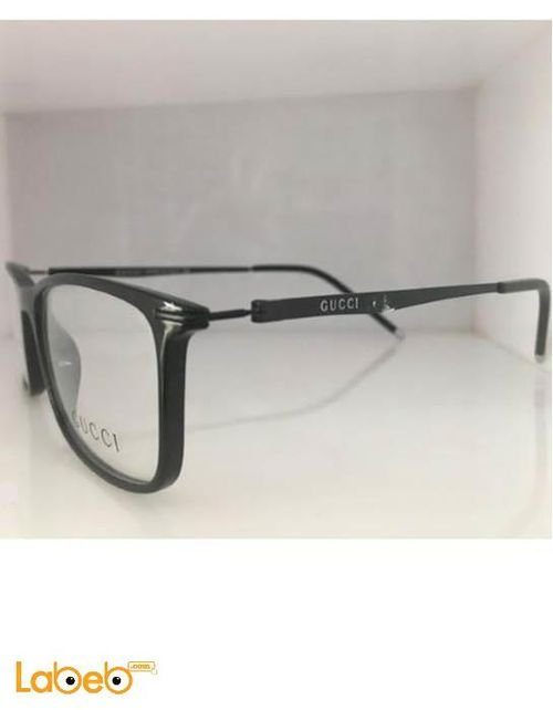 Copy Gucci eyeglasses Black frame clear lenses