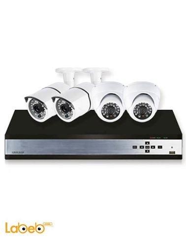 نظام كاميرات حماية تايجر - عدد 4 - 700TVL - لون أبيض - موديل K10