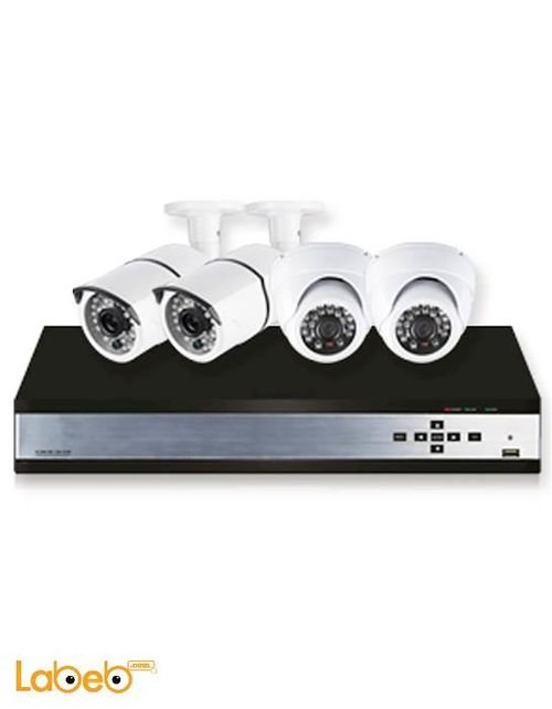 Tiger CCTV Security Kit 4 cameras 700TVL White K10 model