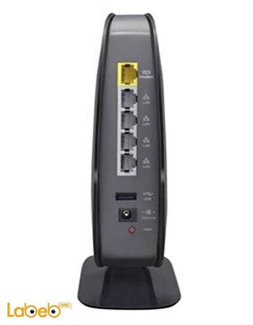 راوتر لاسكي بيلكين نطاق مزدوج لون أسود موديل N600 DB