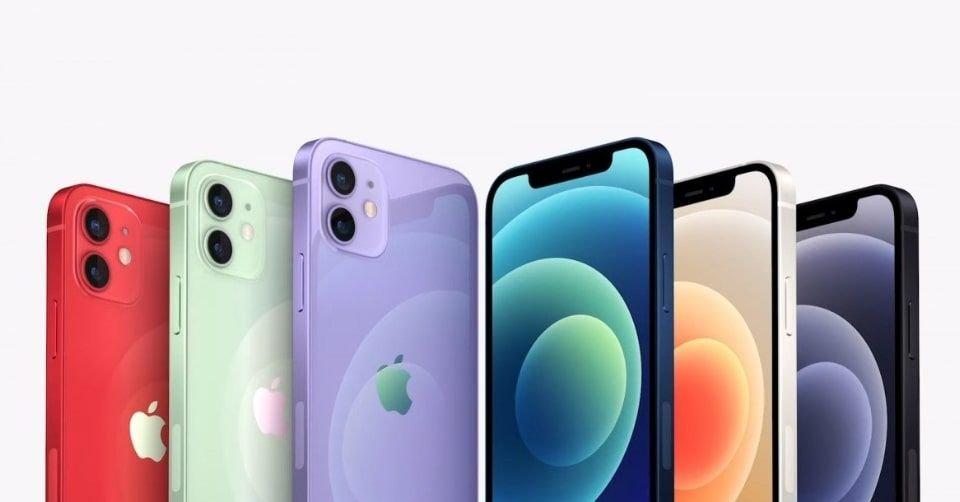 ألوان هاتف آبل آيفون 12 ميني مع اللون الجديد 2021