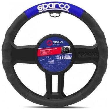 غطاء عجلة القيادة من سباركو، أسود وأزرق