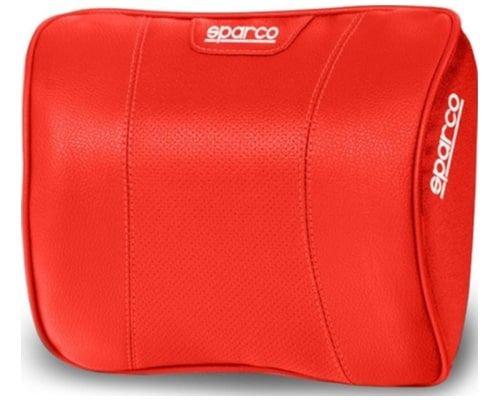 وسادة رقبة لكرسي السيارة من سباركو، لون أحمر
