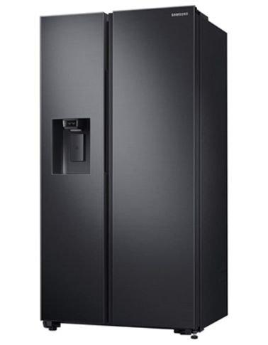 ثلاجة سامسونج بابين سايد باي سايد، 23 قدم مكعب، أسود