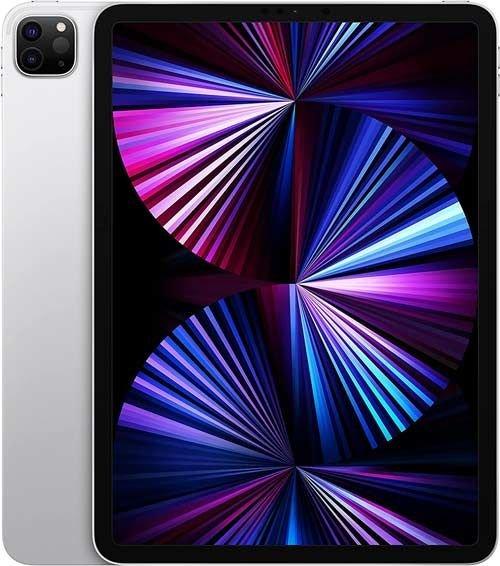 آبل آيباد برو 2021، شاشة 11 بوصة، معالج M1، وايفاي، 128 جيجابايت، فضي
