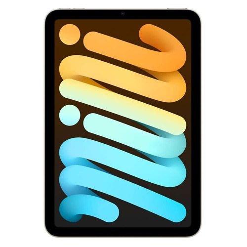 آبل آيباد ميني 6، 8.3 بوصة، وايفاي، 64 جيجابايت، ضوء النجوم