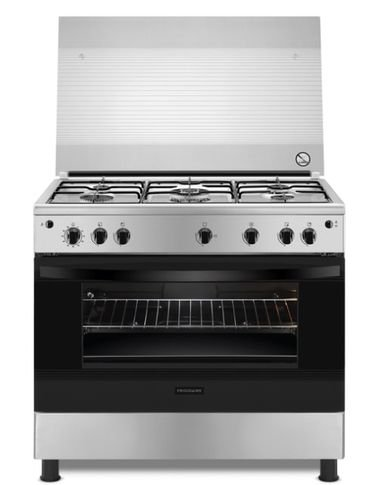 فرن وطباخ غاز من فريجداير، 5 شعلات، 90×60 سم، ستانلس ستيل