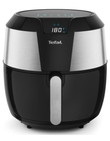 قلاية هوائية من تيفال، 5.6 لتر، 1700 واط، أسود فضي
