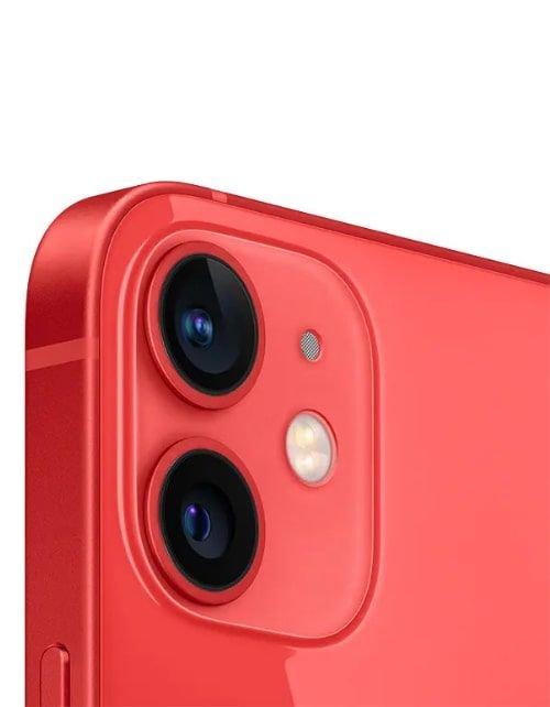 آيفون 12 أحمر سعة 64 جيجابيات كاميرا خلفية مزدوجة