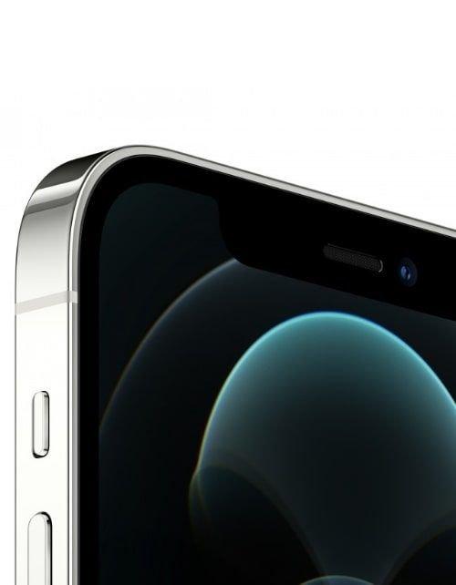 هاتف أبل آيفون 12 برو ماكس، 5 جي، 256 جيجابايت، فضي