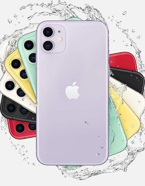 هاتف أبل آيفون 11، 4 جي، سعة 128 جيجابايت، لون بنفسجي