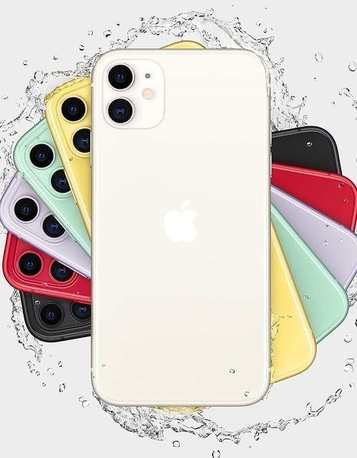 هاتف أبل آيفون 11، 4 جي، سعة 64 جيجابايت، لون أبيض