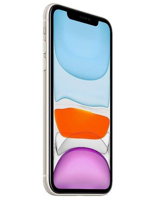 هاتف أبل آيفون 11، 4 جي، سعة 128 جيجابايت، لون أبيض