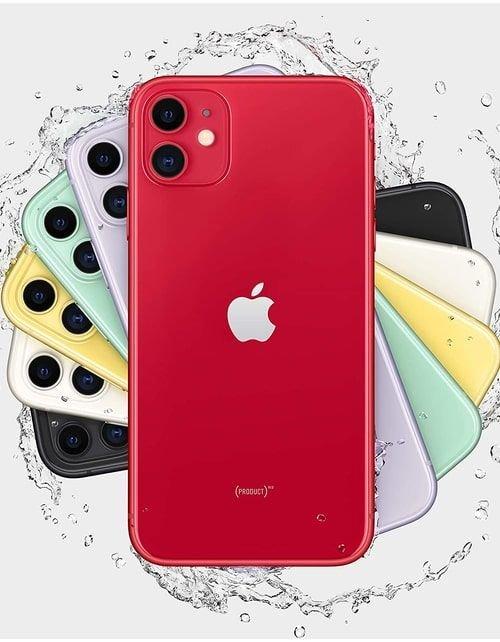 هاتف أبل آيفون 11، 4 جي، سعة 64 جيجابايت، لون أحمر