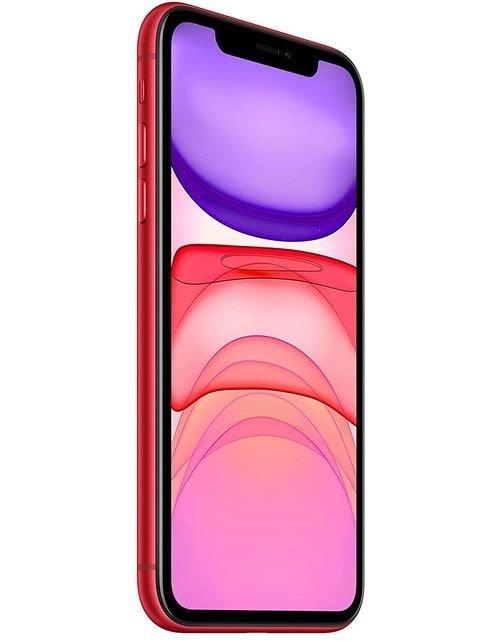 هاتف أبل آيفون 11، 4 جي، سعة 128 جيجابايت، لون أحمر
