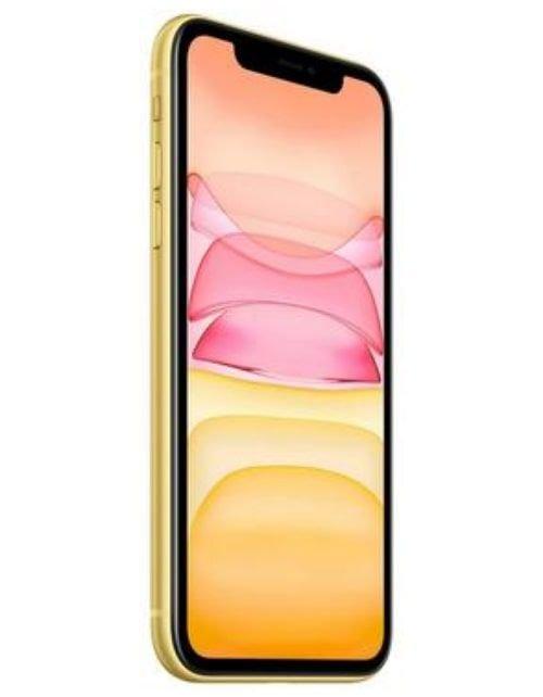 هاتف أبل آيفون 11، 4 جي، سعة 64 جيجابايت، لون أصفر