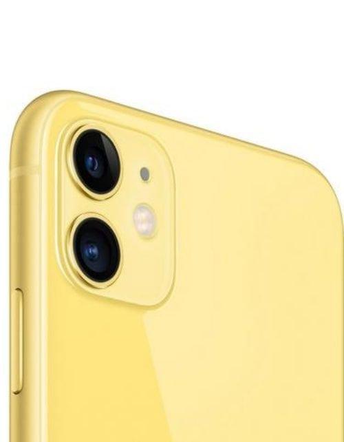 هاتف أبل آيفون 11، 4 جي، سعة 256 جيجابايت، لون أصفر