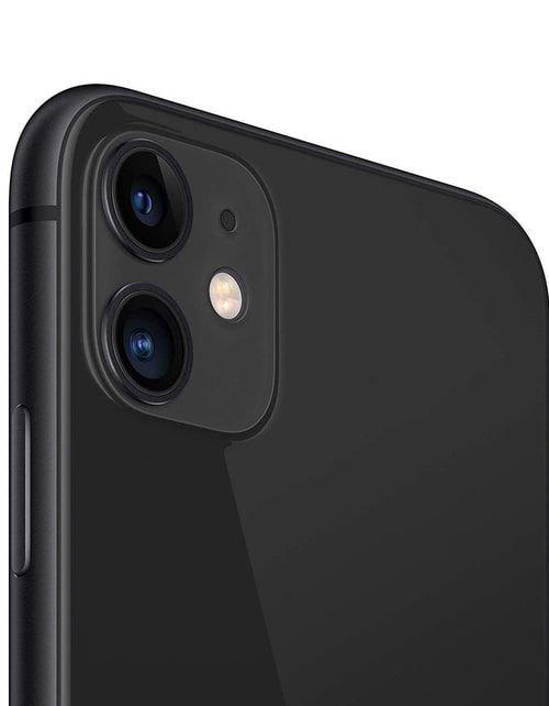 هاتف أبل آيفون 11، 4 جي، سعة 128 جيجابايت، لون أسود