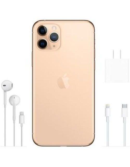 هاتف أبل آيفون 11 برو، 4 جي، سعة 256 جيجابايت، لون ذهبي