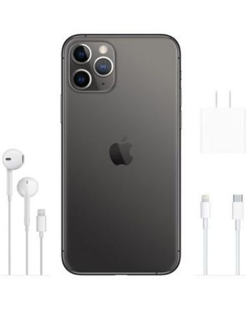 هاتف أبل آيفون 11 برو، 4 جي، 256 جيجابايت، لون رمادي