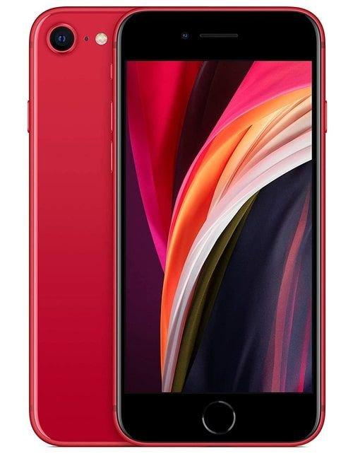 هاتف أبل آيفون إس اي 2، 4 جي، 256 جيجابايت، لون أحمر