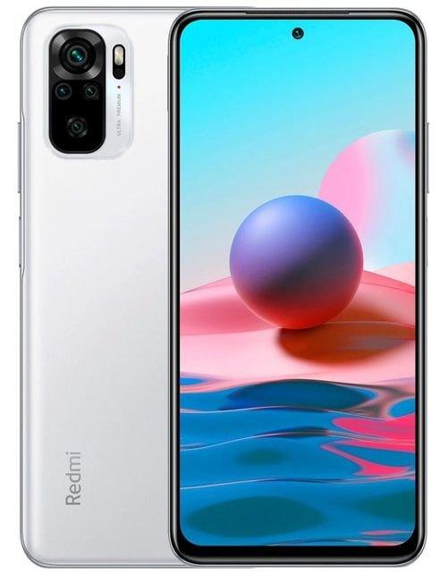 هاتف شاومي ريدمي نوت 10، 4 جي، 128 جيجابايت، أبيض