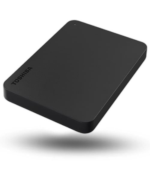 Toshiba Portable External Hard Disk, 1TB, black, canvio basics