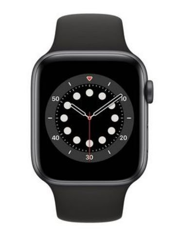Apple Watch 6 Smart, GPS with call,  44mm Gray aluminum case, Black Strap